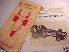 TOLEMAN GT 183B F1 1983 GIACOMELLI-WARWICK 1/43 SCALA