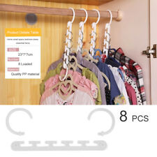 Portable 8 Pcs Space Saving Magic Trousers Clothes Hanger Clothes Organizer AZ