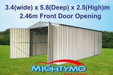 Garden Shed, 3.4(W)x5.9(D)x2.5(H)m, Large Steel, Workshop, Storage, Garage Sheds
