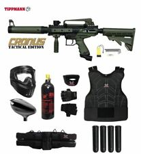 Tippmann Maddog Cronus Tactical Protective CO2 Paintball Gun Package Olive