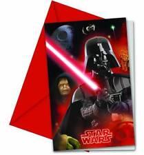 Star Wars 6 Party Einladungen mit Umschlag Einladung Karten Einladungskarten