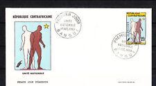 Centrafrique  enveloppe 1er jour  unité  nationale   1964