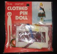 Vintage B Blumenthal Co Clothespin Doll Craft Kit Miss Scotland