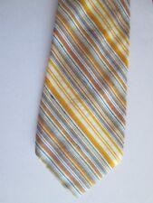 """Vintage NEW NWT 1970s Men's Tie 4"""" wide Blue Orange White Diagonal Stripes 60"""""""
