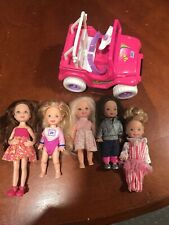 KELLY DOLL LOT OF 5 PLUS JEEP