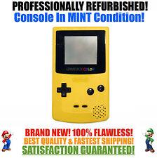 *NEW GLASS SCREEN* Nintendo Game Boy Color GBC Dandelion Yellow System MINT NEW