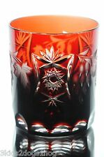 Nachtmann Traube Ruby Red Cut to Clear Cased Crystal DOF Whiskey Glass Tumbler