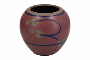 Studio / Art pottery vase Stoneware Hand painted Signed Unknown mark