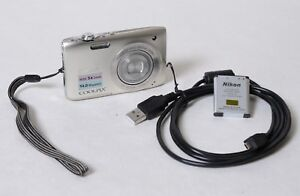 Nikon Coolpix S3100 14 MP, Battery, USB Cable, Tested