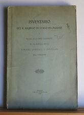 Inventario del R. Archivio di Stato di Cagliari 1902 Sardinia Archives History