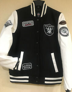 Oakland Raiders Women's Varsity Jacket by G-III - Quarterback Varsity Jacket