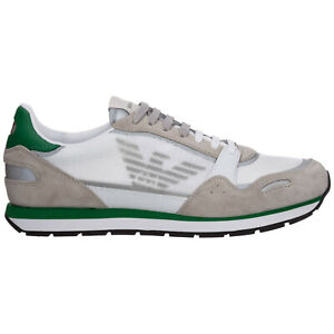 Emporio Armani sneakers men X4X537XM6781N494 logo detail suede shoes trainers