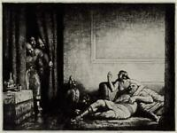 WILLIAM ARTHUR NARBETH (b.1893) Signed Etching CLASSICAL SCENE - 20TH CENTURY