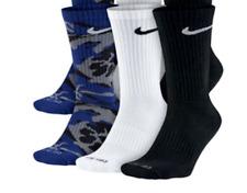 Men's NIKE Blue camo crew socks 3 pack L Large 10-13