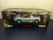 "Hot Wheels Elite LTD 1:18 ""The Italian Job Movie"" Blue 360 Spider Ferrari - MIB"