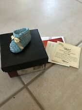"Just The Right Shoe- ""Its A Boy"" Raine Collection New Baby Gift Blue Collectible"