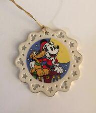 Lenox Disney  Mickey & Co  - Mickey & Pluto  - Porcelain Christmas Ornament