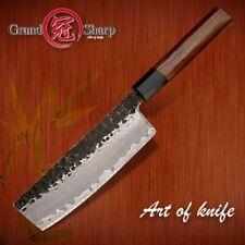 Handmade Nakiri Knife 3 layers Japanese AUS10 steel Kitchen Knives Vegetables
