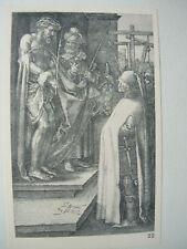 Albrecht DURER VINTAGE incisione su rame ECCE HOMO-PASSIONE N. 8