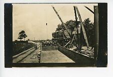 "Railroad Track Construction in Reading OH ""Clam Shell"" Train RPPC Photo 1910s"