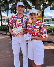 Disney World Epcot Cast Member Costume Flag Shirt Small