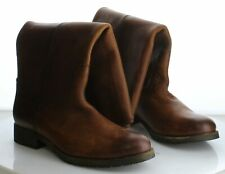 59-45 MSRP $348 Women's Size 9.5B Frye Melissa Button Brown Leather Zip Boots