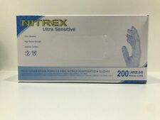 NITREX- 1 PACK OF 200 NITRILE GLOVES MEDICAL FOOD MULTI USE -POWDER + LATEX FREE
