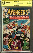 Avengers #7 CBCS 6.5 SIGNED STAN LEE Battle Cover 1964 LOKI cameo MCU Not CGC