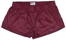 Burgundy Shiny Short Nylon Shorts by Soffe - Size XL