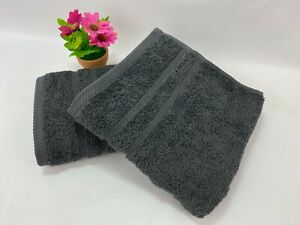 2x Large Luxury soft Hand Towels 100% Egyptian Cotton 500gsm size 50cm x 100cm