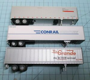 HO scale semi trailers, (3), Walthers, 2-45 ft.Rio Grande, Seaboard, 1-48 ft. CR