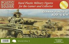 Plastic Soldier 1/72 Pz Kpfw III Ausf G or Ausf H (3 Fast Assembly Tanks)