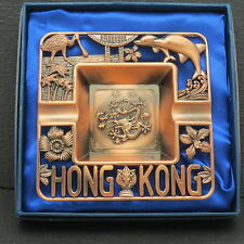Cut out Dragons Dolphins Flowers Birds Palm Trees Ashtray Hong Kong