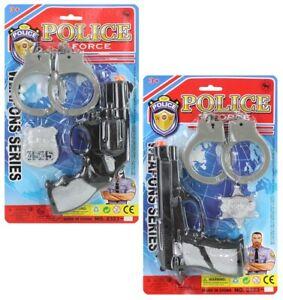 Polizei Ausrüstung Set Polizeikostüm Spielzeug Handschellen Spielzeugpistole