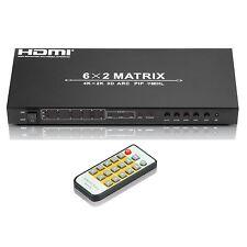CKITZE BG-565 6x2 Port Matrix Ultra 1080p HD up to 4K/2K HDMI Switcher/Splitter