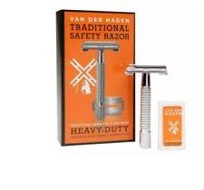 Van Der Hagen Traditional Safety Razor Set includes 5 Blades ( Old School )