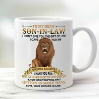 To My Son-in-law Coffee Mug From Mother-in-law For Son In Law Cup Thank You Gift