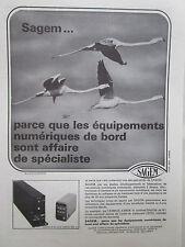 12/1973 PUB SAGEM FLAMAND ROSE PINK FLAMINGO AIRBUS A300B SYSTEME DE N SNL 10 AD