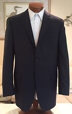 Stunning NEW Burberry London Mens Gray Pinstripe 3 Btn Dual Vent Suit Sz 40 L