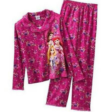 Disney Princess Floral Pajama Set - Girls Size 4