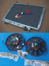 aluminum radiator Mazda 323 GTX GTR FORD TX3 familia Protegé 1989-1994 + FANS