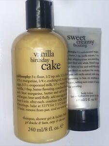 Philosophy Happy Birthday Gift Set Vanilla Birthday Cake - 1=8oz & 1=2 oz