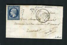 Rare lettre de Ganne Barge par Montsalvy ( Cantal 1857 ) pour Muratet