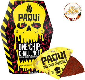 Paqui One Chip Challenge 2021 - World's Hottest Carolina Reaper Tortilla Chip UK
