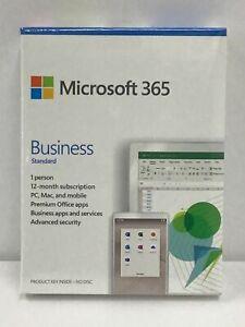 Microsoft 365 Business Std 1 PC or Mac 1 YR Subscription Product Key KLQ-00495