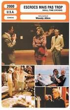 FICHE CINEMA : ESCROCS MAIS PAS TROP - H.Grant,W.Allen 2000 Small Time Crooks
