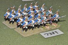 25mm Guerra de los siete años Brunswick Granaderos 24 Figuras De Metal Pintado (7389)