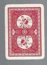 Swap Playing Cards 1 WIDE VINT U.K GENT BICYCLE RIDER & LANTERNS REVERSABLE  3WW