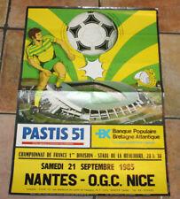 FOOTBALL POSTER AFFICHE FC NANTES OGC NICE CHAMPIONNAT DE FRANCE 1985-86