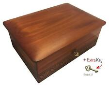 Large Wood Box Polish Handmade Wooden Decorative Box Keepsake Memories Ashes Box